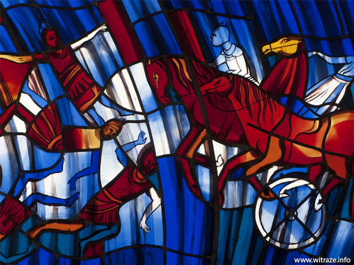stained glass parting red sea5