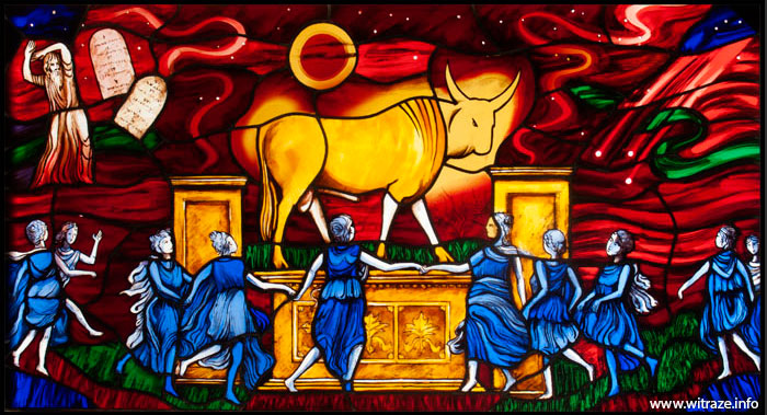 Golden Calf stained glass 1