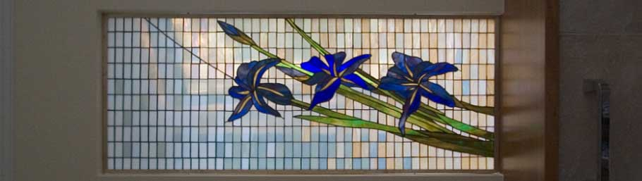 stained glass in residential buildings