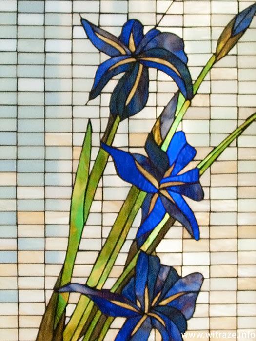 Świeże Witraż z motywem kwiatu irysa UJ22