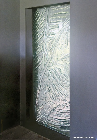 Art Glass Massive Textured Partition Wall