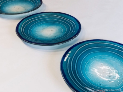 Blue Glass Plates