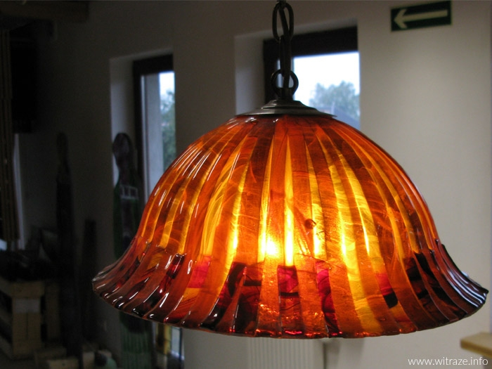 Fused glass lamps