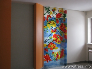 Glass doors inpired by Roland Richardson painting