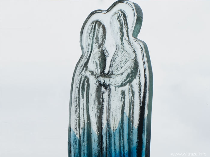 """Visitation"" Glass Statuette"
