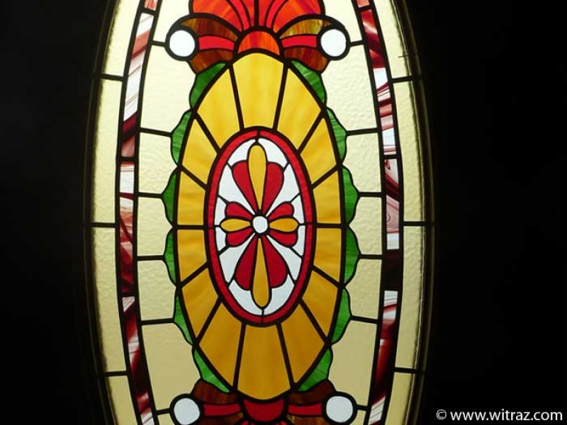 Greatest Oval-shaped stained glass in the residence door XT03