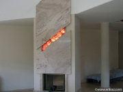 Art Glass Decorative Panels for Fireplace
