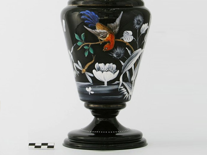 Hyalit Czech vase from the late XIX Century