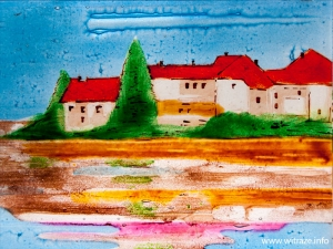 "Art Glass ""Paysage"" Window"