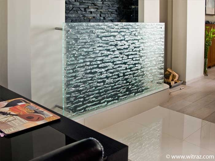 Water fountain art glass screen