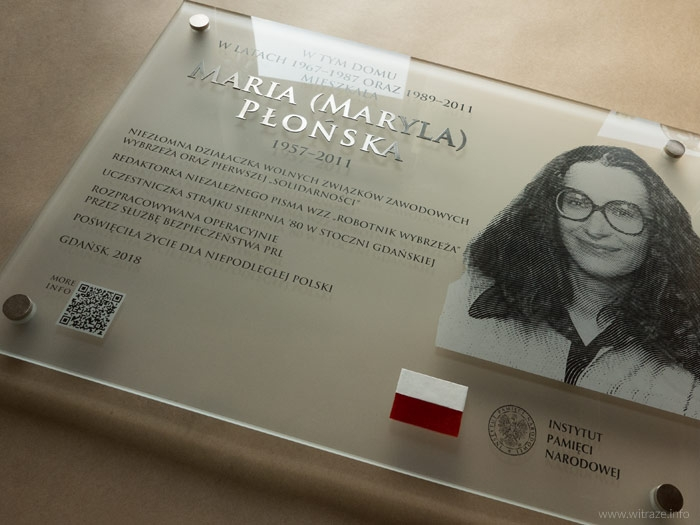Glass plaques for the Institute of National Remembrance