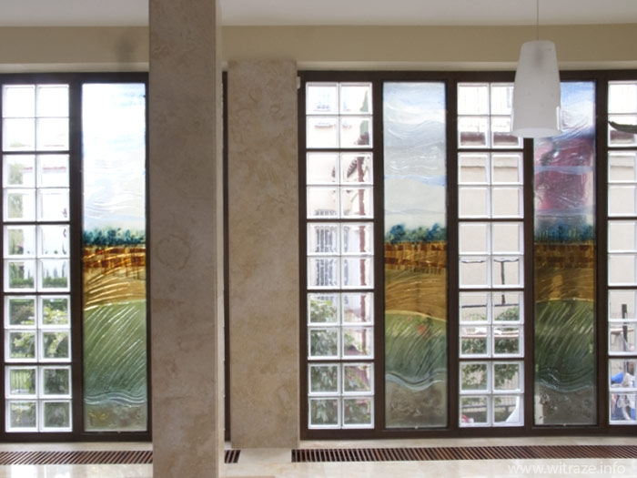"Art Glass ""Landscape"" Window"