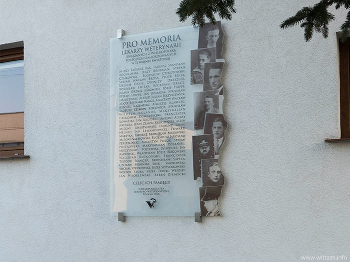 Commemorative plaque at Veterinary Madical Center