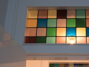 Multicolored stained glass