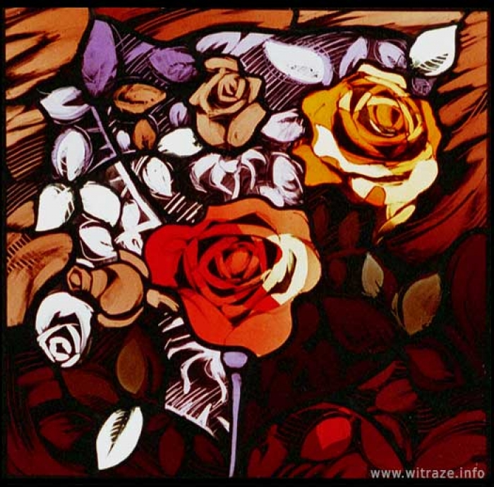 Window 6 Scene 1 - Roses - Symbol of love and suffering