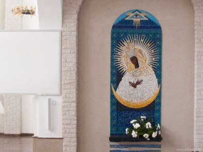 Our Lady of Ostra Brama - venetian glass mosaic