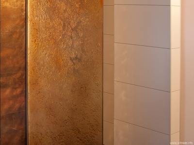 Art Glass Wall in Shower Cabin