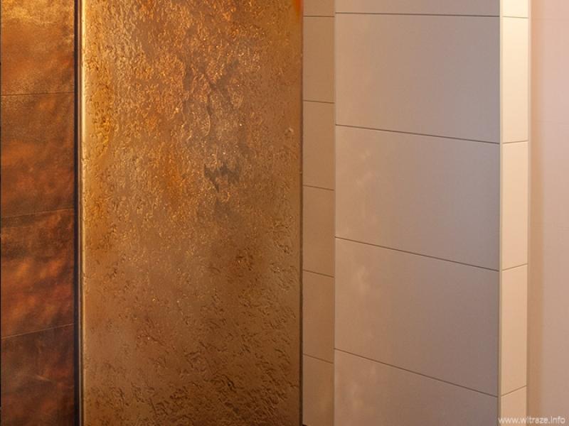Art Glass Wall in Shower Cabin