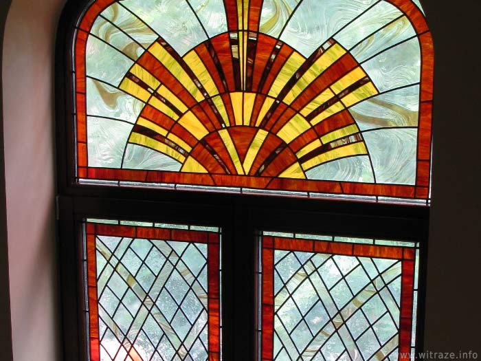 Private residence stained glass windows