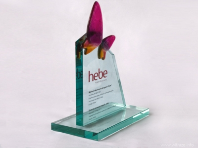 "Glass Statuette ""Hebe"""
