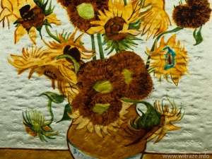 "Van Gogh's ""Sunflowers"" on glass"