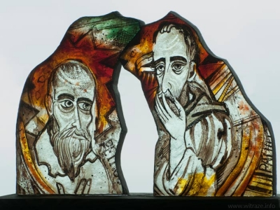 """St.Peter and St.Paul"" Glass Statuette"