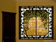 Tiffany-style windows in the private residencies