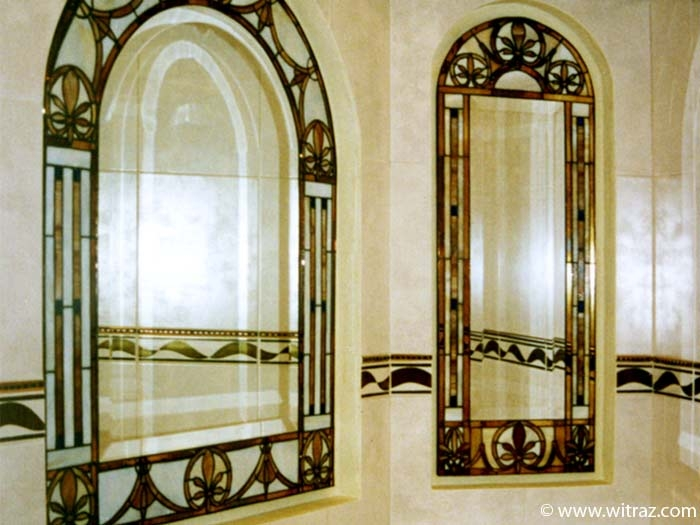 Decorative glass mosaics mirror frames