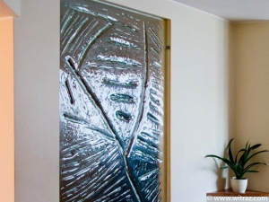 Textured Art Glass Wall Panel