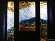 "Art Glass ""Landscape"" Window's Set"