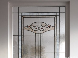Stained glass panels in art nouveau style