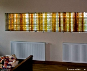 Art glass decoration instead of glass hollow bricks
