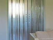 Striped Glass Double Door