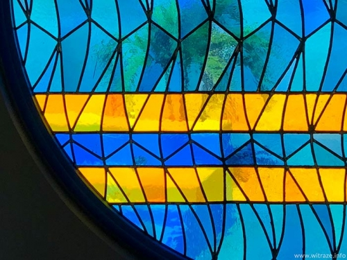 Stained glass window in Aruba