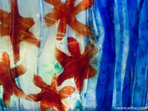 Vivid colours - art glass in the bathroom window