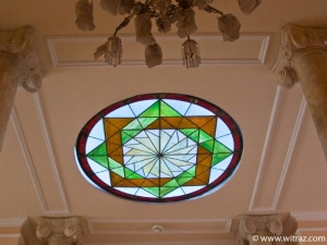 Stained glass plafond