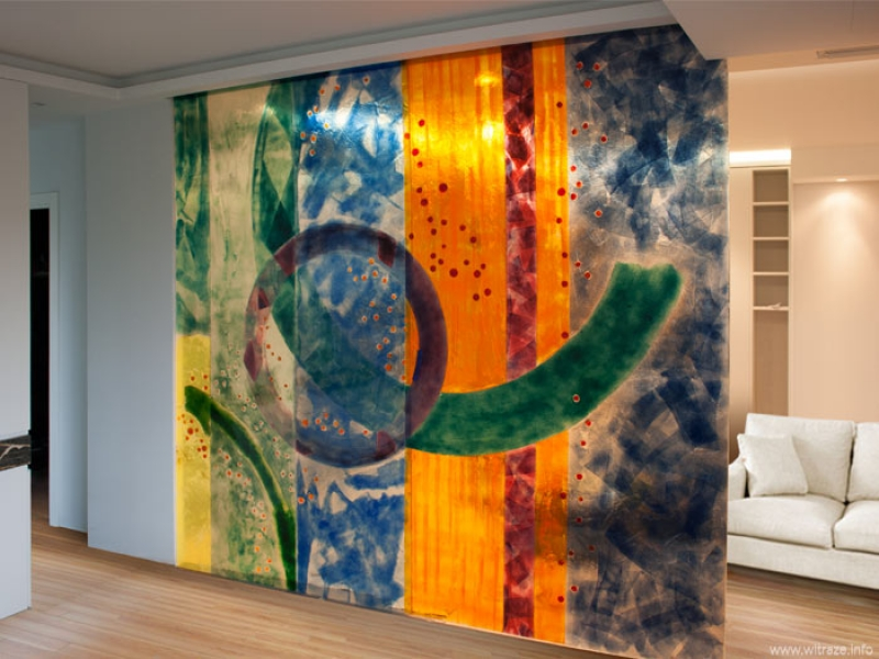 Colored Glass Doors And Partition