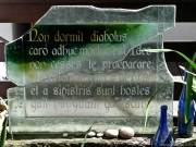 Solid art glass plaques