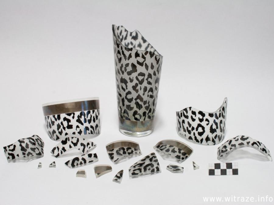 Broken 90s Leopard Print Vase
