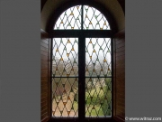 Antique glass glazings in chapels