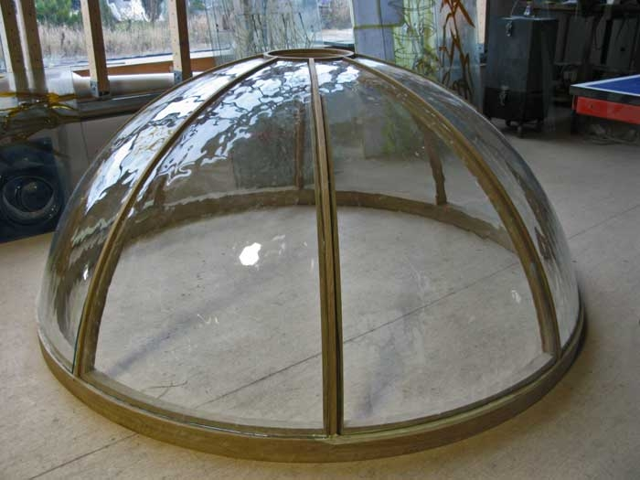 Spherical curved glass for the dome