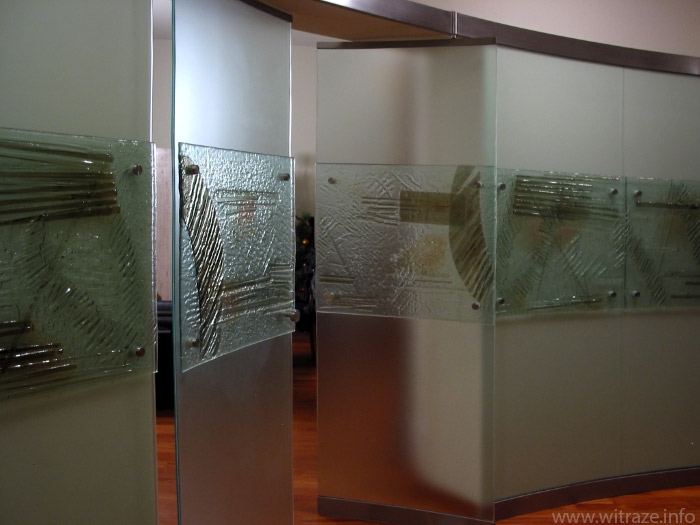 Glass partition with doors in private residence