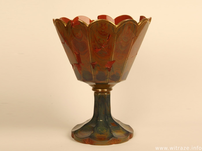 Czech goblet with marbled decoration from 1830