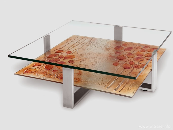 Coffe tables with art glass