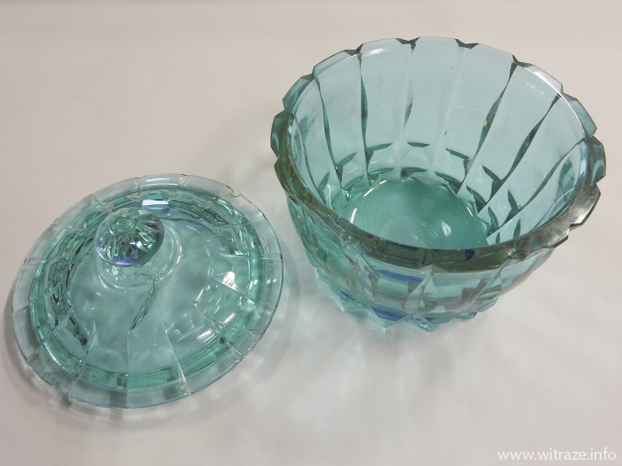Amazing color changing glass sugar bowl