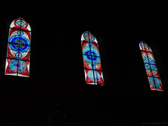 Stained glass in St. Margaret church in Nowy Sacz