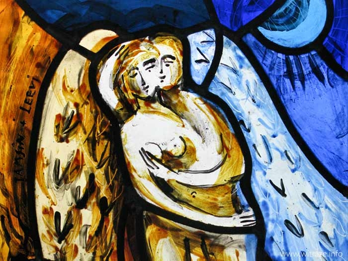 Lovers - small stained glass panel