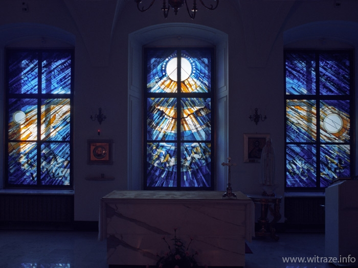 Stained glass windows  in the President of Polish Republic Palace's chapel