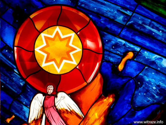 Jacob's Ladder - stained glass in a restaurant