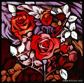 Window 6 Scene 2 - Roses - symbol of love and suffering